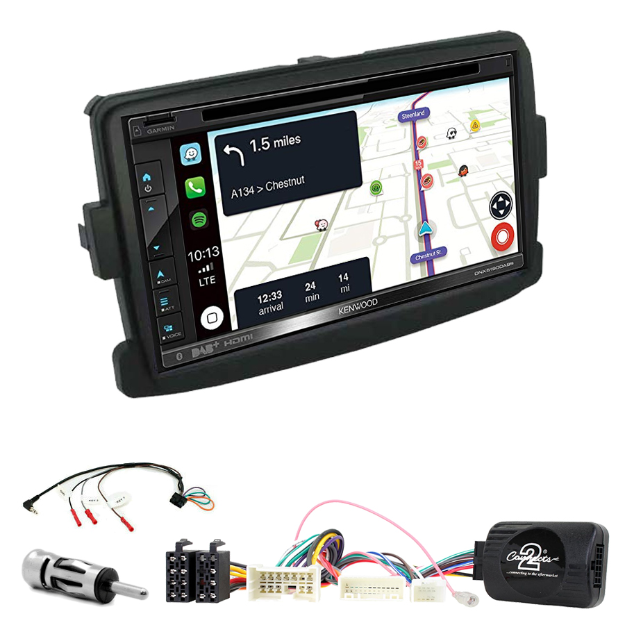Kit d\'intégration Dacia Dokker Duster Lodgy Sandero Logan + Autoradio tactile Navigation GPS