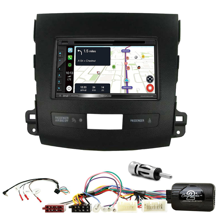 Kit d\'intégration Citroën C-Crosser + Autoradio tactile Navigation GPS