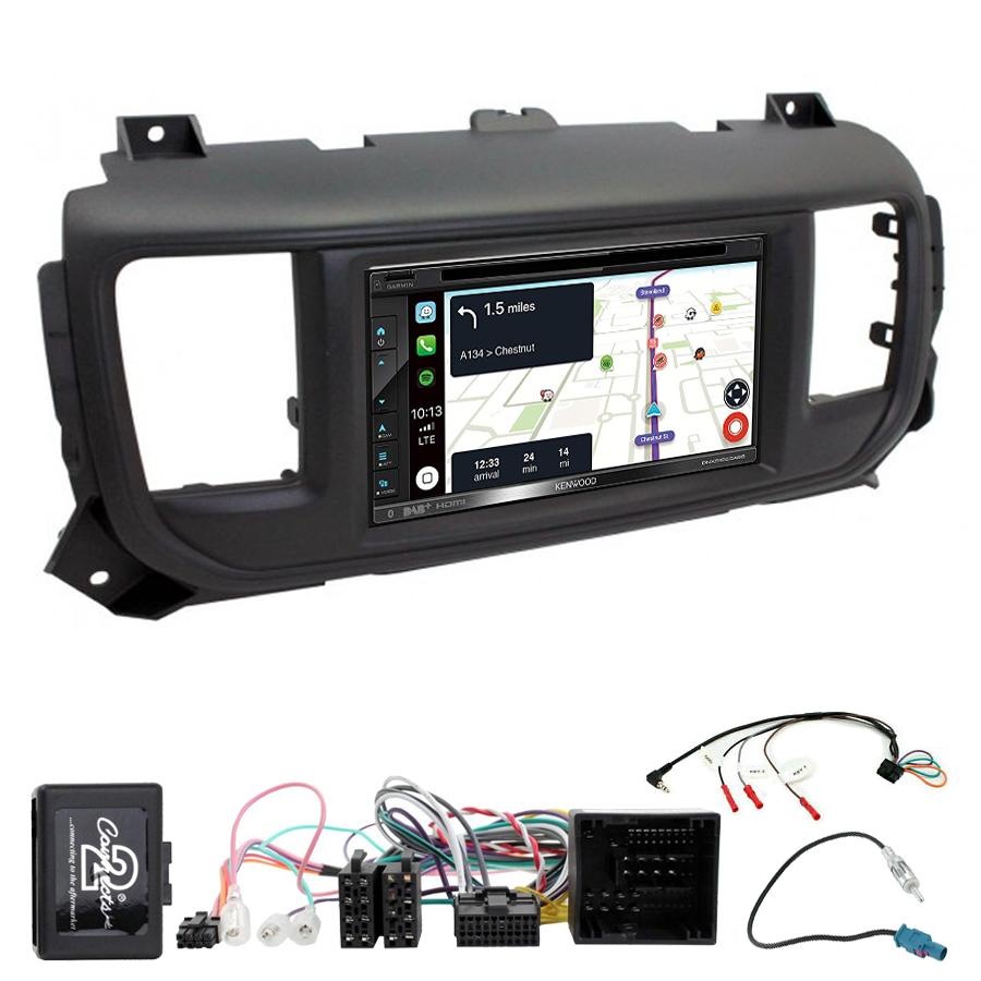 Kit d\'intégration Citroën Spacetourer et Jumpy depuis 2016 + Autoradio tactile Navigation GPS