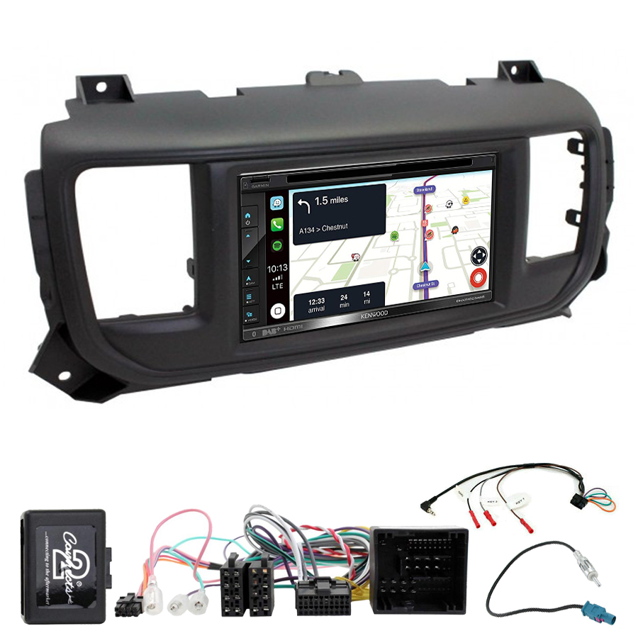Kit d\'intégration Peugeot Traveller et Expert + Autoradio tactile Navigation GPS