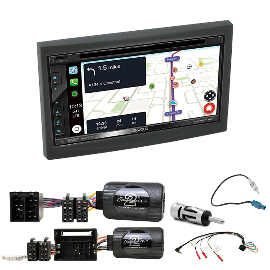 Kit d\'intégration Peugeot 207 307 3008 5008 Expert Partner + Autoradio tactile Navigation GPS