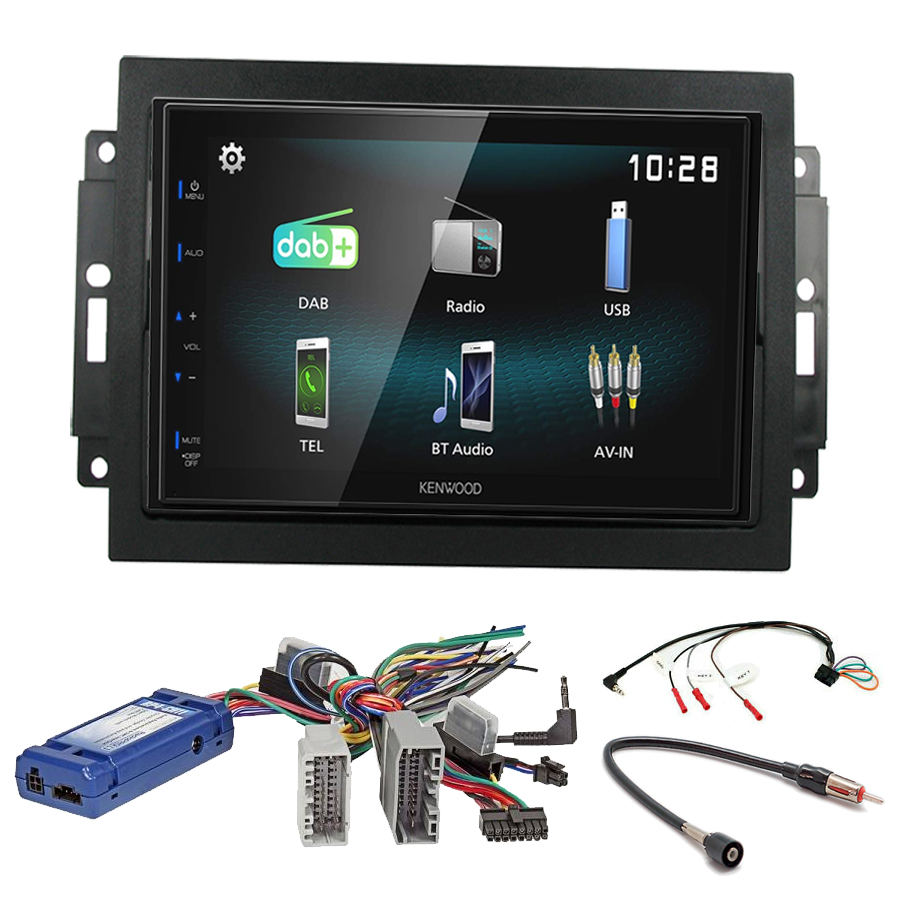 Kit d\'intégration Jeep Grand Cherokee, Commander et Compass + Autoradio multimédia à écran tactile