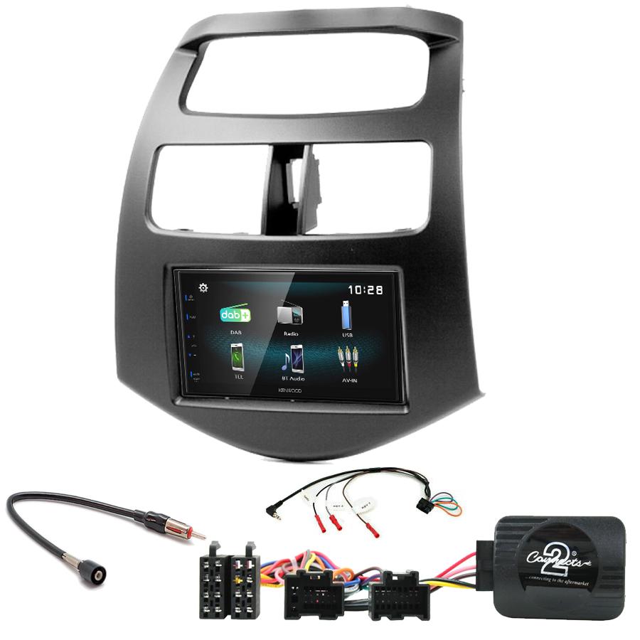 Kit d\'intégration Chevrolet Spark de 2010 à 2015 + Autoradio multimédia à écran tactile