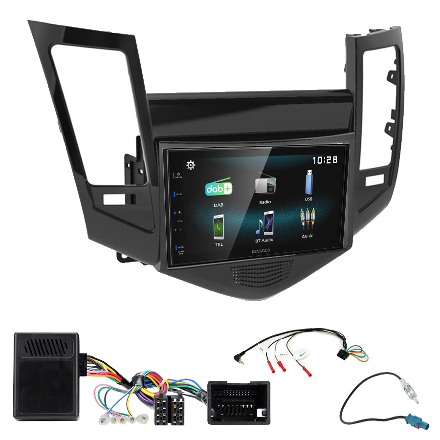 Kit d\'intégration Chevrolet Cruze de 05/2009 à 2012 + Autoradio multimédia à écran tactile
