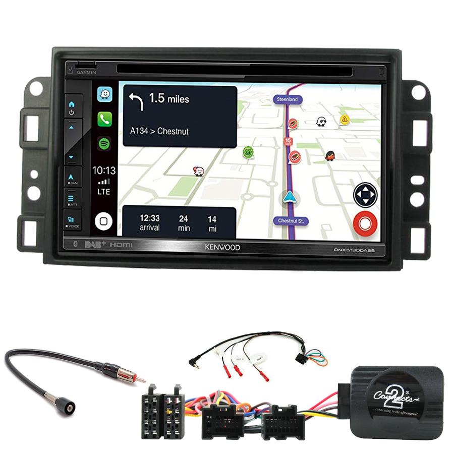 Kit d\'intégration Chevrolet Aveo Captiva et Epica + Autoradio tactile Navigation GPS
