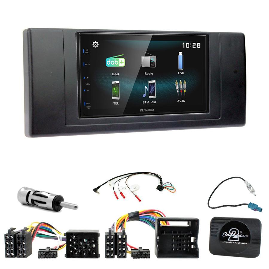 Kit d\'intégration BMW X5 E53 + Autoradio multimédia à écran tactile