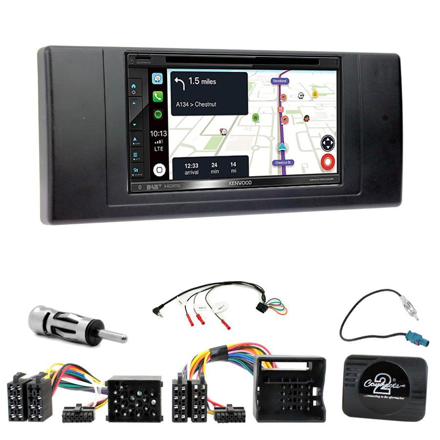 Kit d\'intégration BMW X5 E53 + Autoradio tactile Navigation GPS