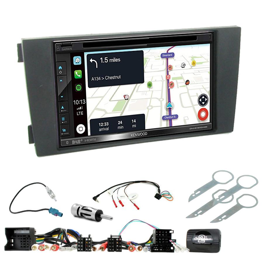 Kit d\'intégration Audi A6 de 2001 à 2005 + Autoradio tactile Navigation GPS