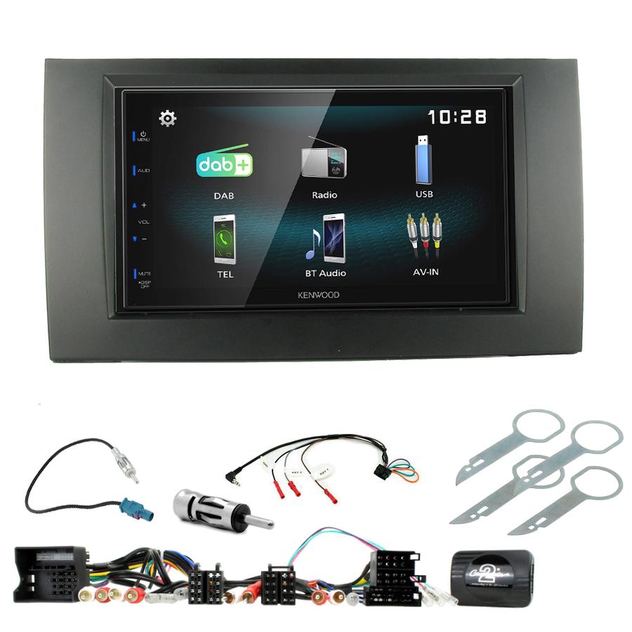 Kit d\'intégration Audi A4 de 2001 à 2007 + Autoradio multimédia à écran tactile