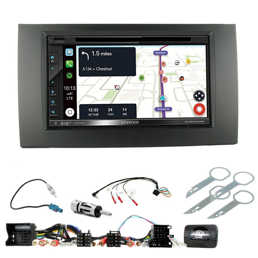 Kit d\'intégration Audi A4 de 2001 à 2007 + Autoradio tactile Navigation GPS