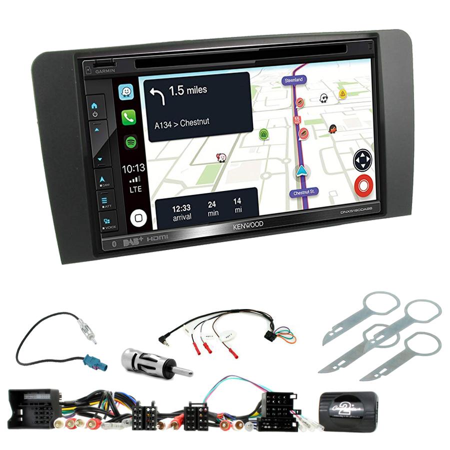 Kit d\'intégration Audi A3 de 2003 à 2012 + Autoradio tactile Navigation GPS