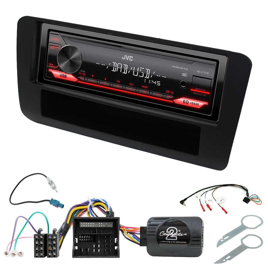 Kit d\'intégration Audi A1 de 2010 à 2018 + Poste 1DIN USB/Bluetooth