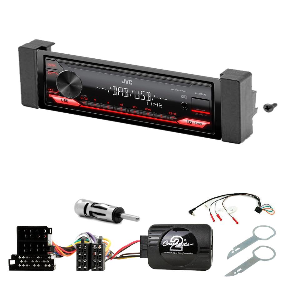 Kit d\'intégration Audi A3 de 1996 à 1999 + Poste 1DIN USB/Bluetooth