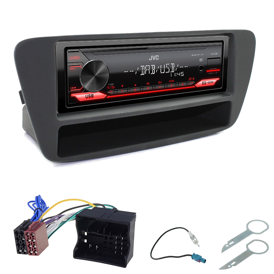 Kit d\'intégration Audi Q3 de 2011 à 2018 + Poste 1DIN USB/Bluetooth