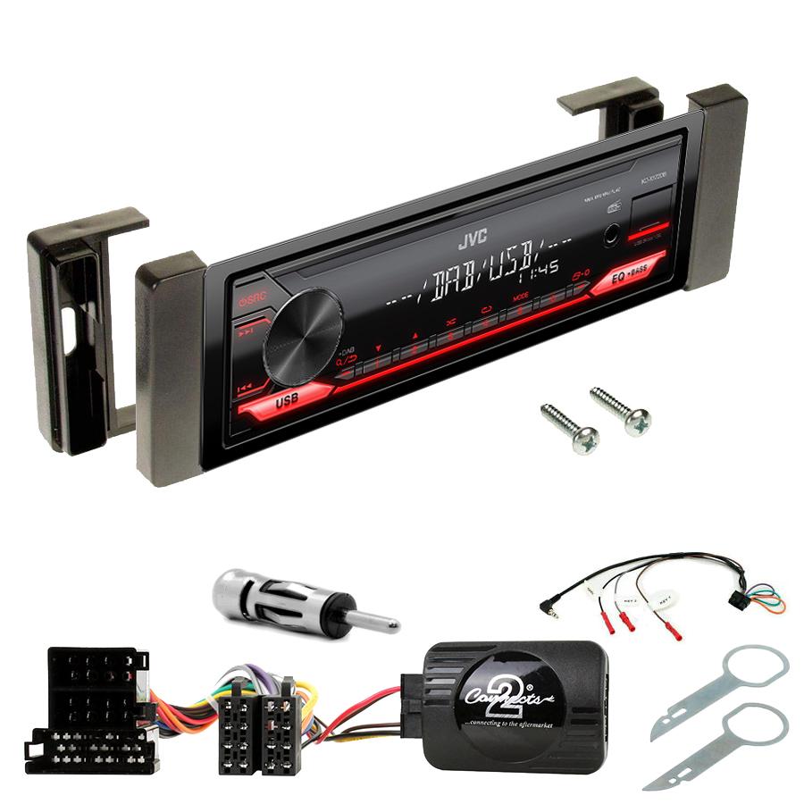 Kit d\'intégration Audi TT de 1998 à 2006 + Poste 1DIN USB/Bluetooth