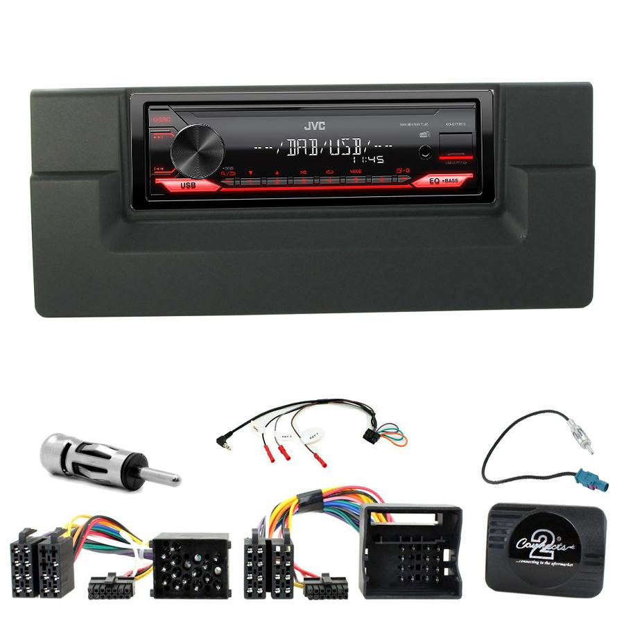 Kit d\'intégration BMW Série 5 E39 et BMW X5 E53 + Poste 1DIN USB/Bluetooth