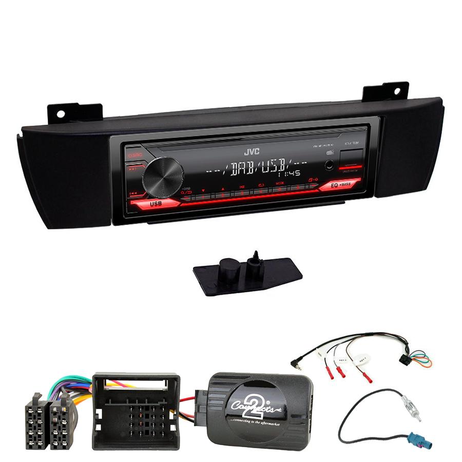 Kit d\'intégration BMW X3 de 2004 à 2010 + Poste 1DIN USB/Bluetooth