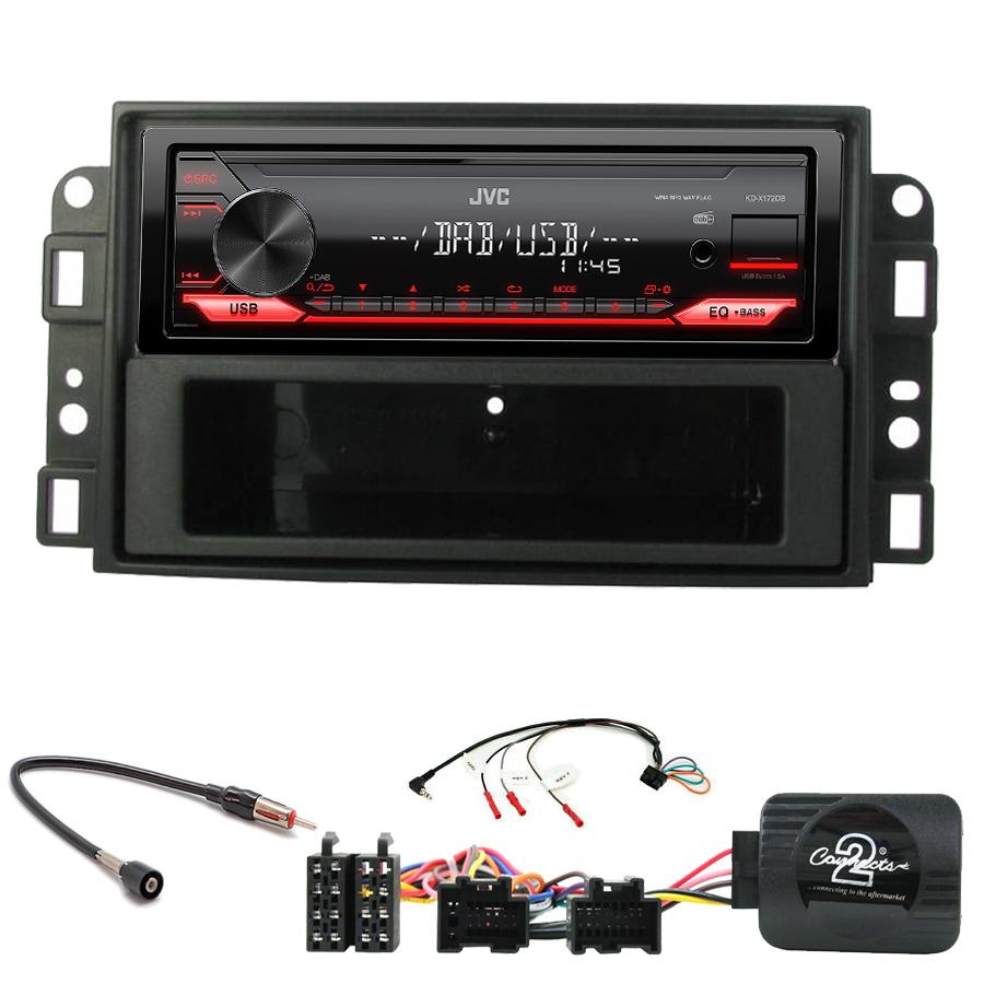 Kit d\'intégration Chevrolet Aveo Captiva et Epica + Poste 1DIN USB/Bluetooth