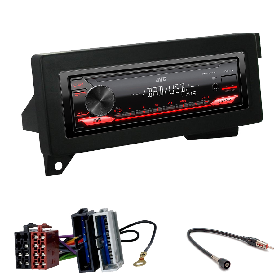 Kit d\'intégration Jeep Cherokee et Grand Cherokee de 1993 à 2000 + Poste 1DIN USB/Bluetooth