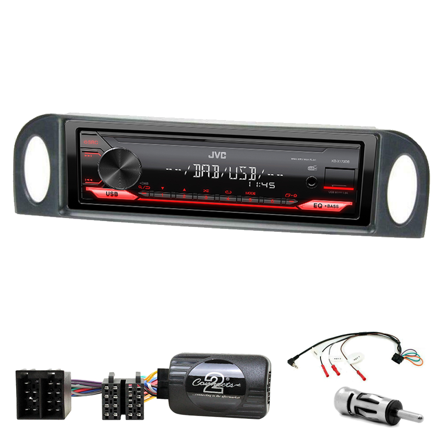 Kit d\'intégration Citroën C5 de 2001 à 2004 + Poste 1DIN USB/Bluetooth