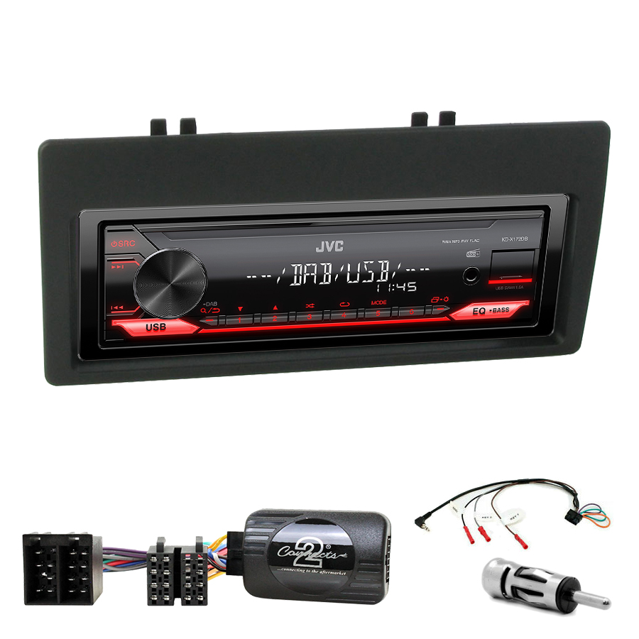 Kit d\'intégration Citroën Xantia de 1998 à 2001 + Poste 1DIN USB/Bluetooth