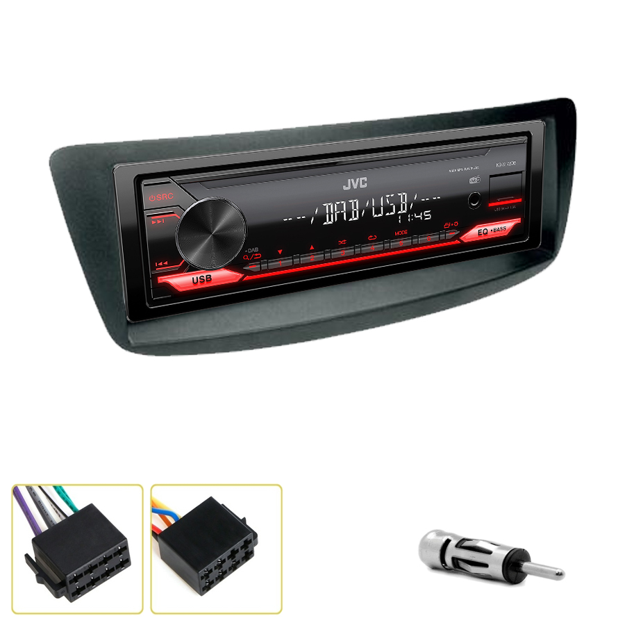 Kit d\'intégration Citroën C1 de 2005 à 2014 + Poste 1DIN USB/Bluetooth