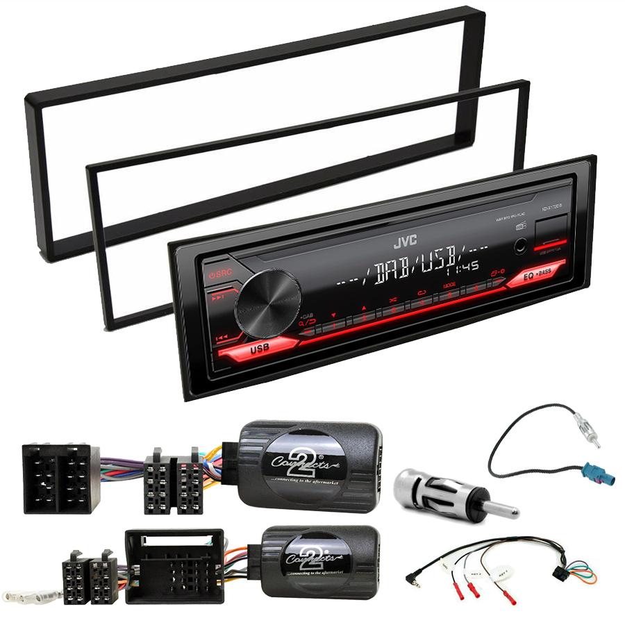 Kit d\'intégration Peugeot 207 307 1007 3008 5008 Expert Partner + Poste 1DIN USB/Bluetooth