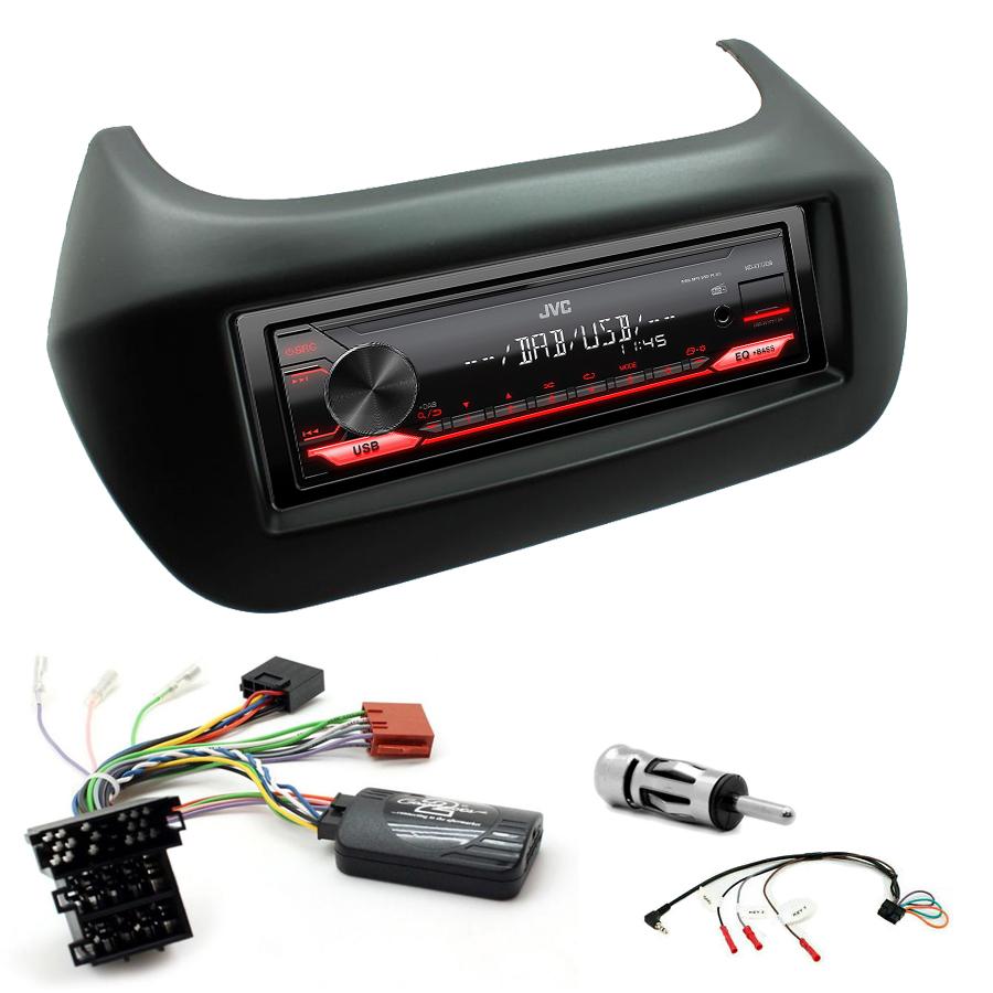 Kit d\'intégration Fiat Qubo et Fiorino + Poste 1DIN USB/Bluetooth