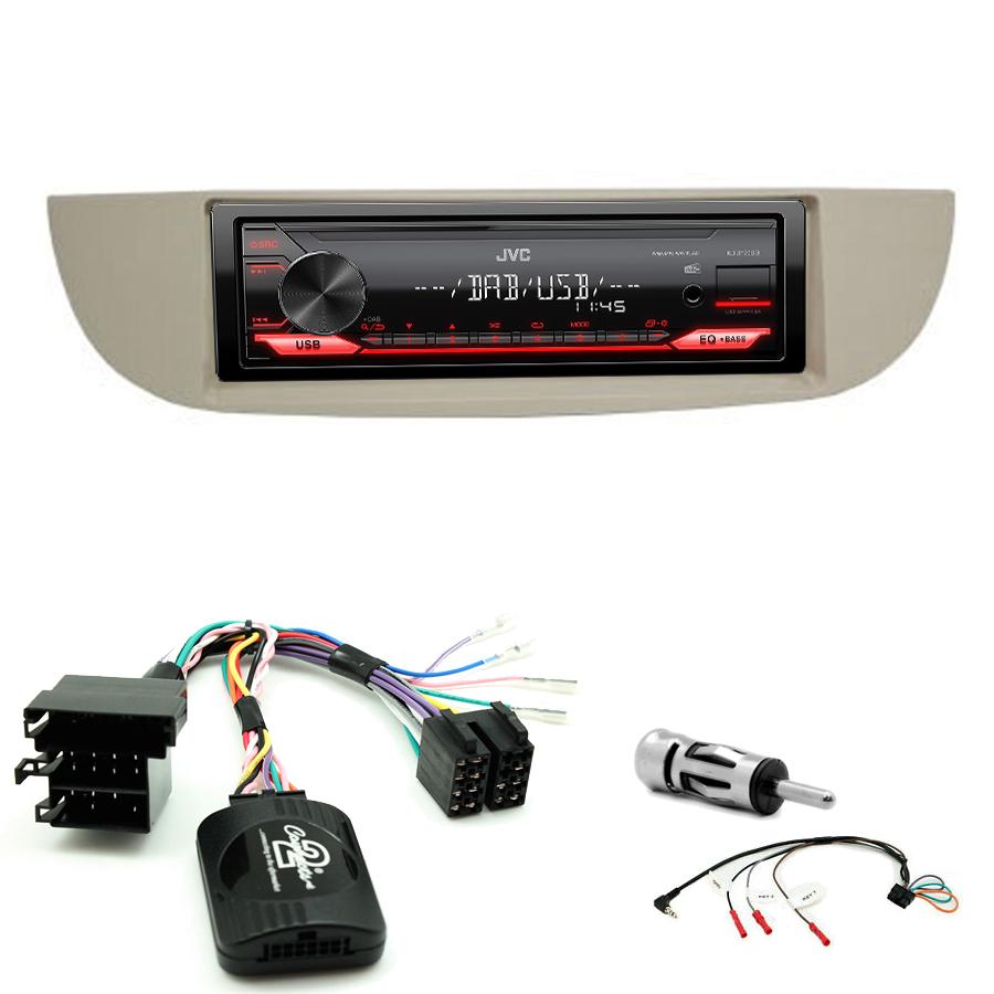 Kit d\'intégration Fiat 500 de 2007 à 2015 + Poste 1DIN USB/Bluetooth