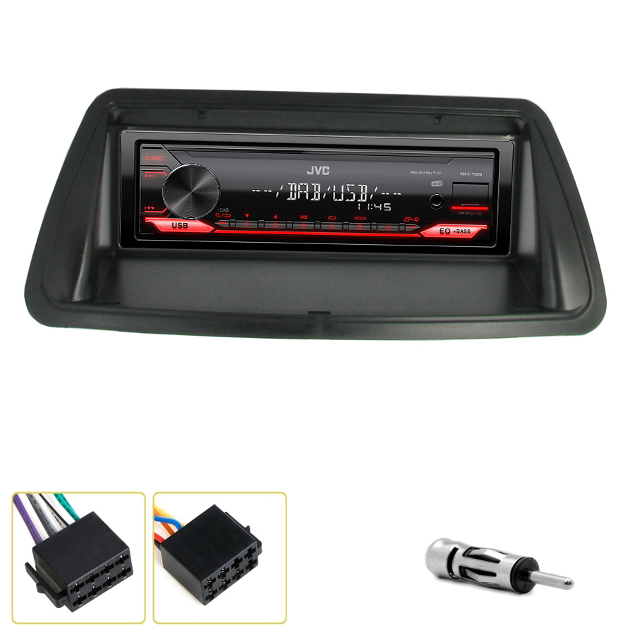 Kit d\'intégration Fiat Brava, Bravo et Marea + Poste 1DIN USB/Bluetooth