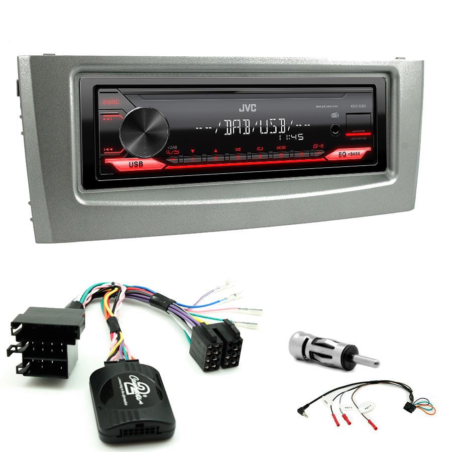 Kit d\'intégration Fiat Grande Punto de 2005 à 2009 + Poste 1DIN USB/Bluetooth