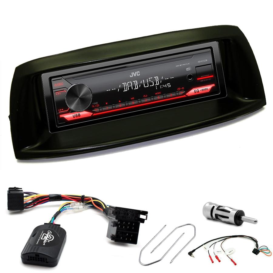 Kit d\'intégration Fiat Punto de 05/1999 à 04/2007 + Poste 1DIN USB/Bluetooth