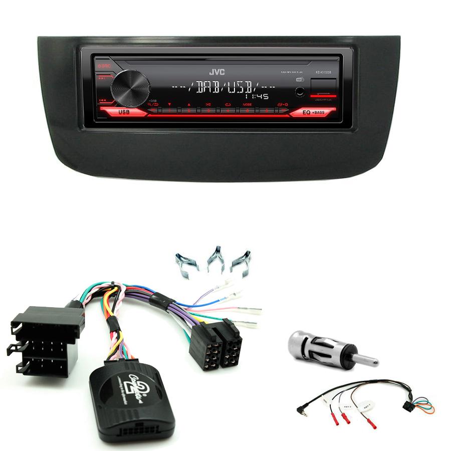 Kit d\'intégration Fiat Punto Evo de 10/2009 à 01/2011 et Punto depuis 01/2011 + Poste 1DIN USB/Bluetooth
