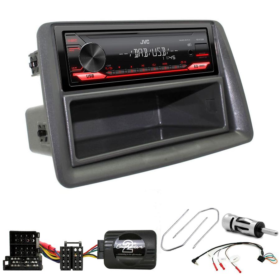 Kit d\'intégration Fiat Panda de 2003 à 2012 + Poste 1DIN USB/Bluetooth