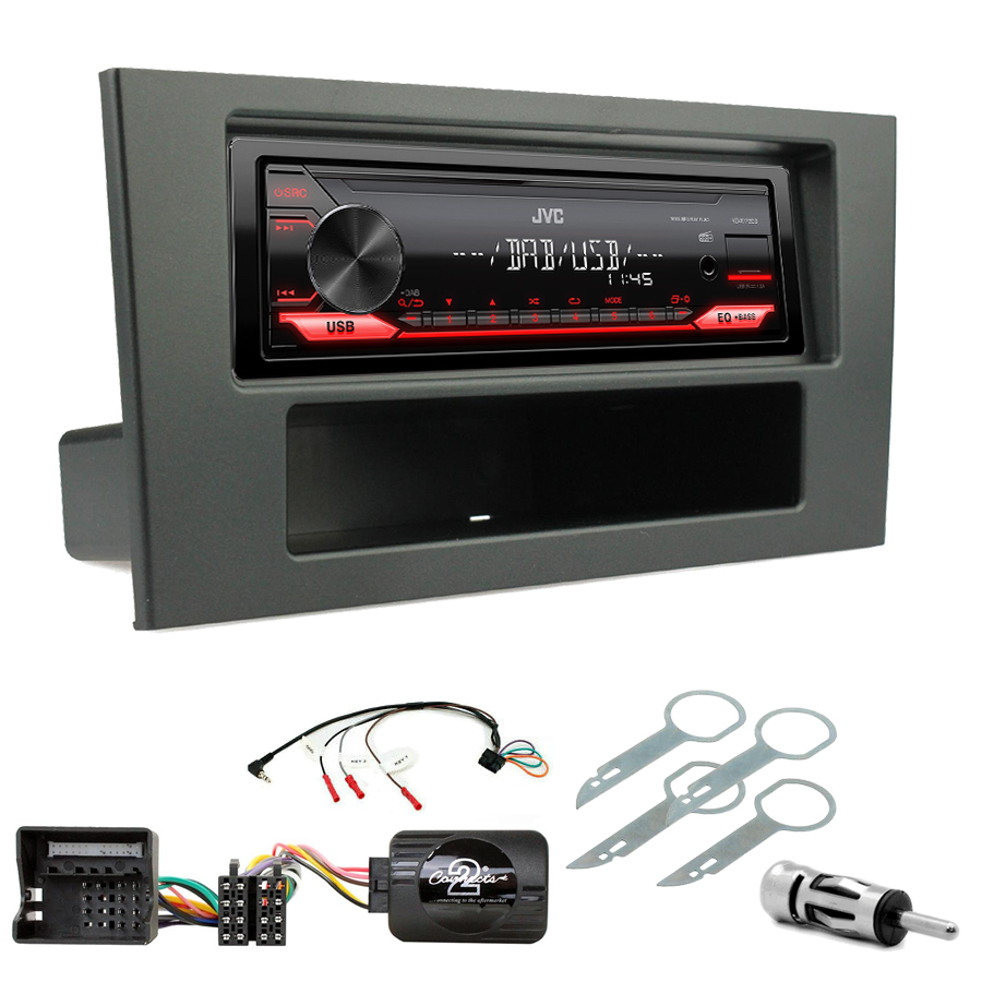 Kit d\'intégration Ford Mondeo de 2003 à 2007 + Poste 1DIN USB/Bluetooth