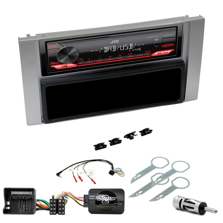 Kit d\'intégration Ford C-Max, Kuga, Focus, Fiesta, Fusion, Transit, S-Max + Poste 1DIN USB/Bluetooth