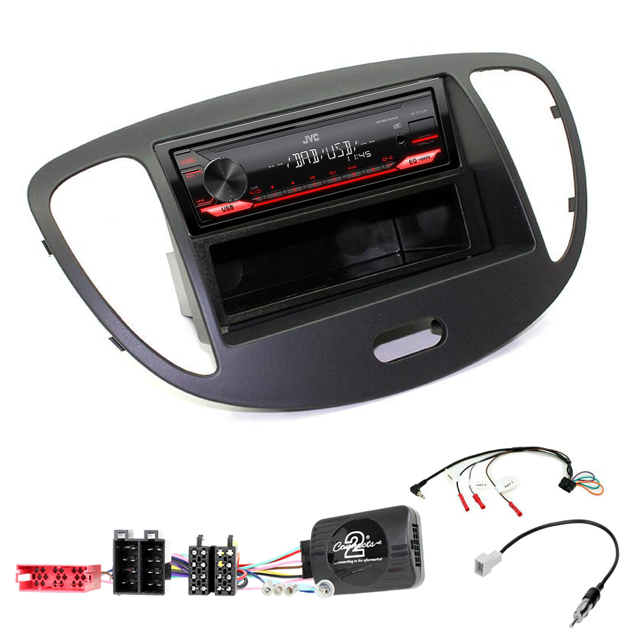 Kit d\'intégration Hyundai i10 de 2008 à 2013 + Poste 1DIN USB/Bluetooth