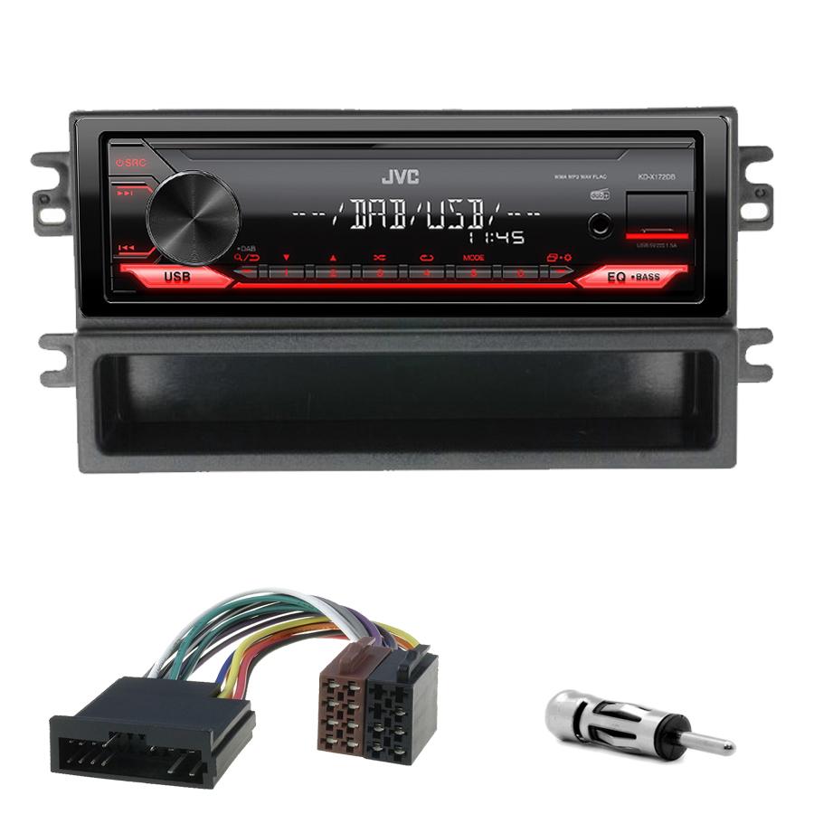 Kit d\'intégration Kia Carens de 2002 à 2006 + Poste 1DIN USB/Bluetooth
