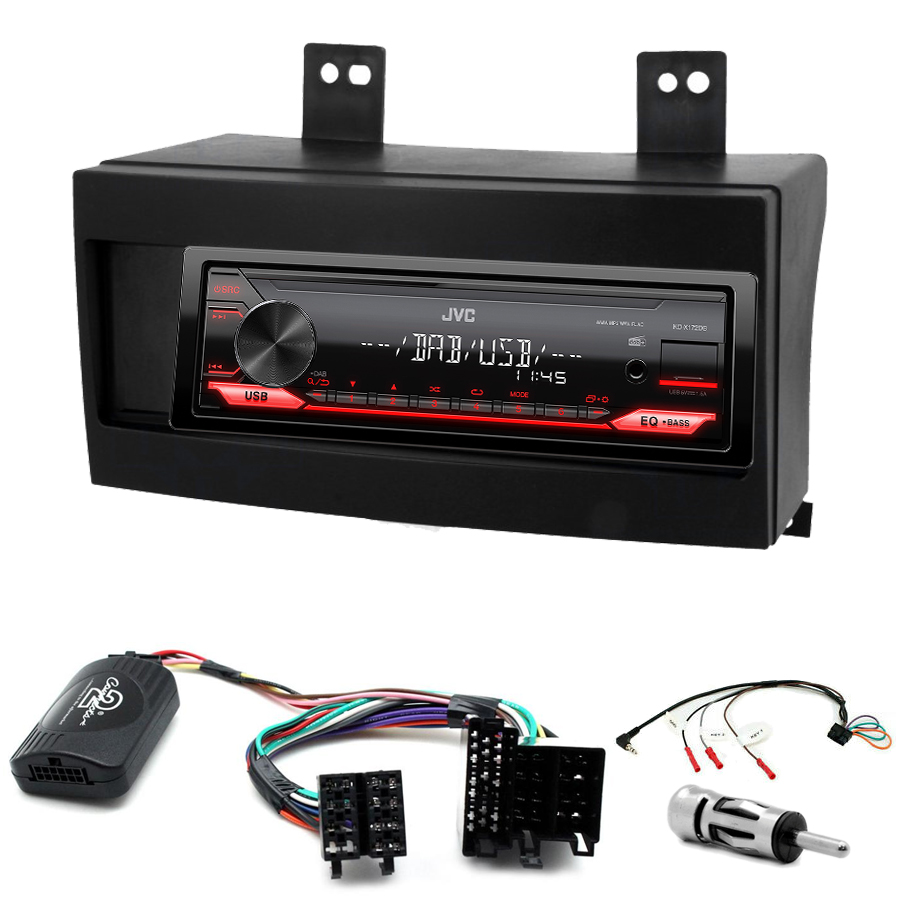 Kit d\'intégration Kia Cee\'d de 12/2006 à 08/2009 + Poste 1DIN USB/Bluetooth
