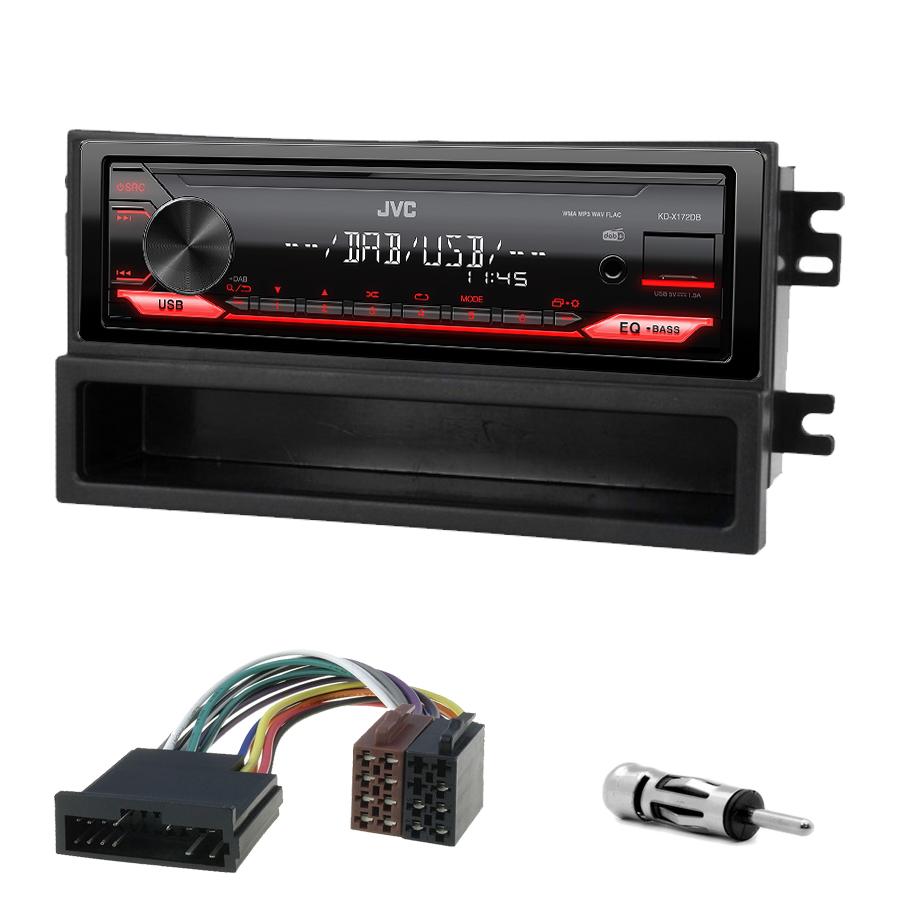 Kit d\'intégration Kia Sorento de 06/2002 à 10/2006 + Poste 1DIN USB/Bluetooth