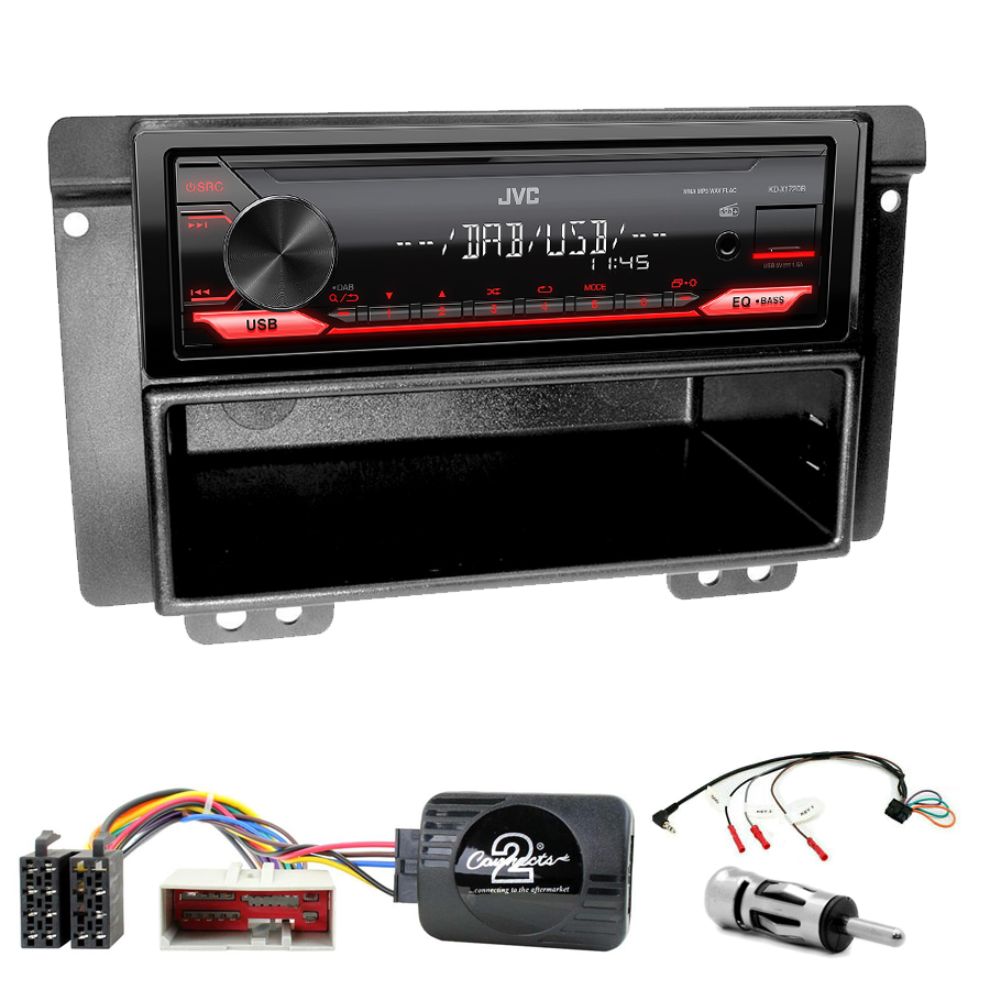Kit d\'intégration Land Rover Freelander de 2004 à 2006 + Poste 1DIN USB/Bluetooth