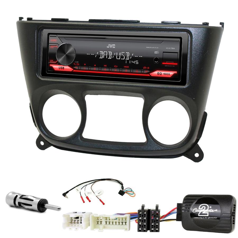 Kit d\'intégration Nissan Almera de 03/2000 à 11/2006 + Poste 1DIN USB/Bluetooth