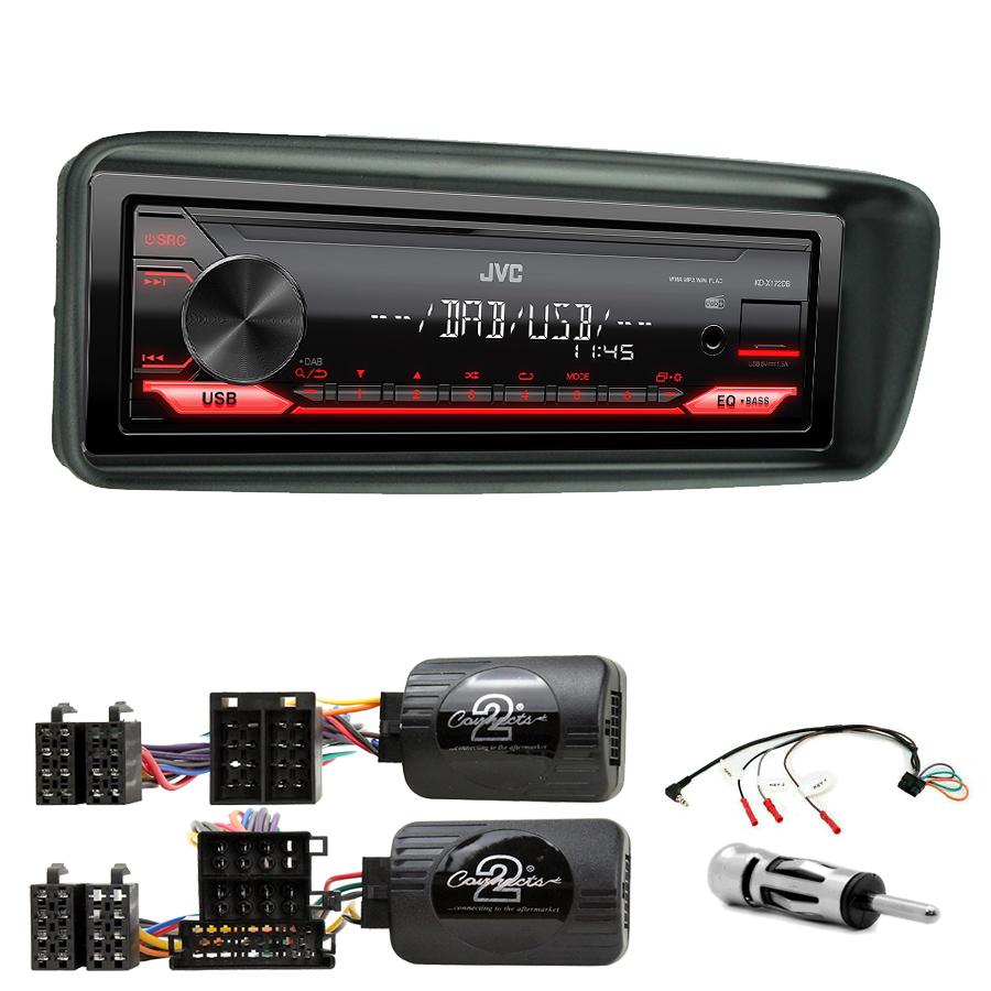 Kit d\'intégration Peugeot 206 de 1999 à 03/2007 + Poste 1DIN USB/Bluetooth