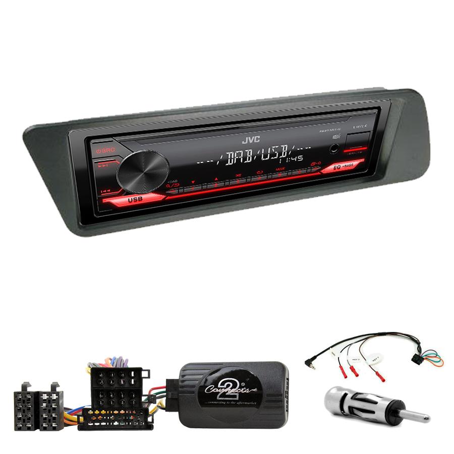 Kit d\'intégration Peugeot 306 de 03/1993 à 2002 + Poste 1DIN USB/Bluetooth