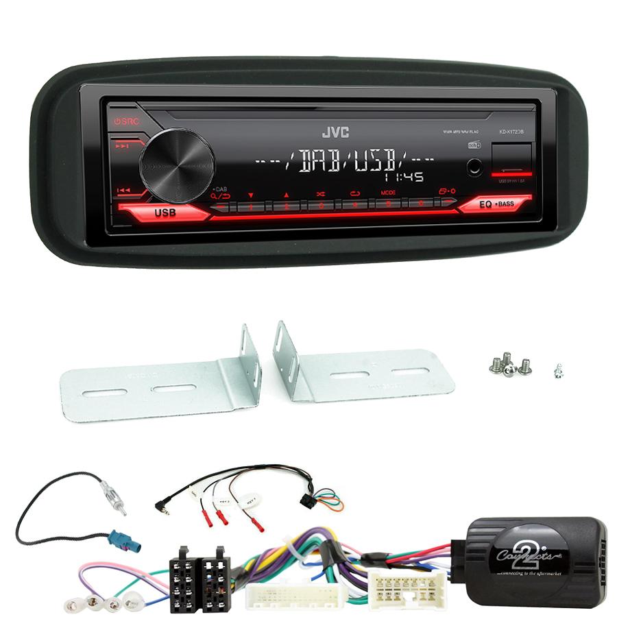 Kit d\'intégration Renault Clio de 2012 à 2017 + Poste 1DIN USB/Bluetooth