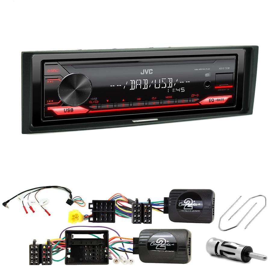 Kit d\'intégration Renault Megane, Modus, Grand Modus et Clio 3 + Poste 1DIN USB/Bluetooth