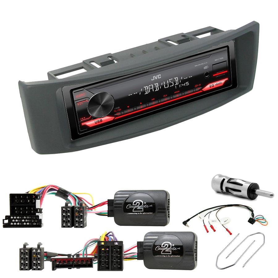 Kit d\'intégration Renault Megane et Scenic de 1996 à 2003 + Poste 1DIN USB/Bluetooth
