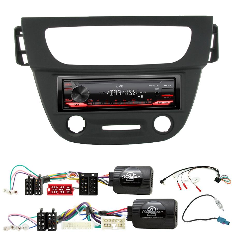 Kit d\'intégration Renault Megane et Fluence de 2009 à 2014 + Poste 1DIN USB/Bluetooth
