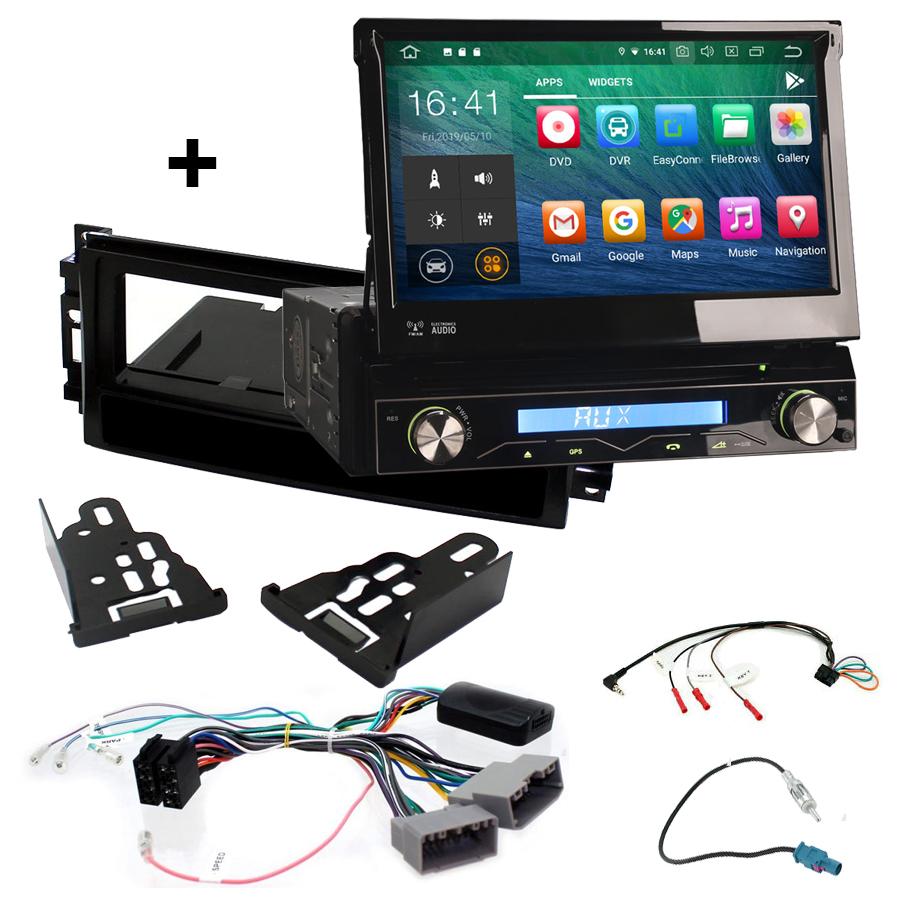 Kit d\'intégration Jeep Commander, Grand Cherokee, Liberty, Patriot et Wrangler + Poste 1DIN avec écran tactile