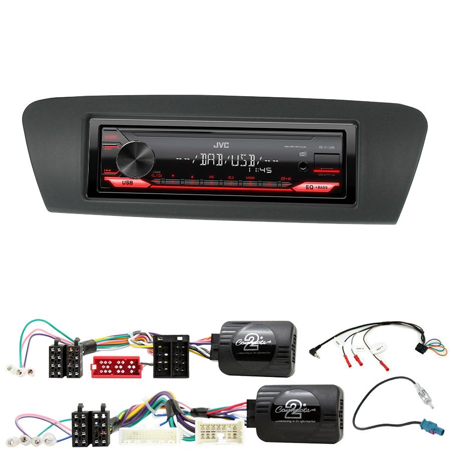 Kit d\'intégration Renault Grand Scenic et Scenic de 2009 à 2016 + Poste 1DIN USB/Bluetooth